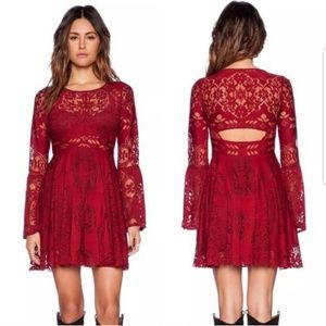 Free People Lace Lovers Folk Song Bell Dress